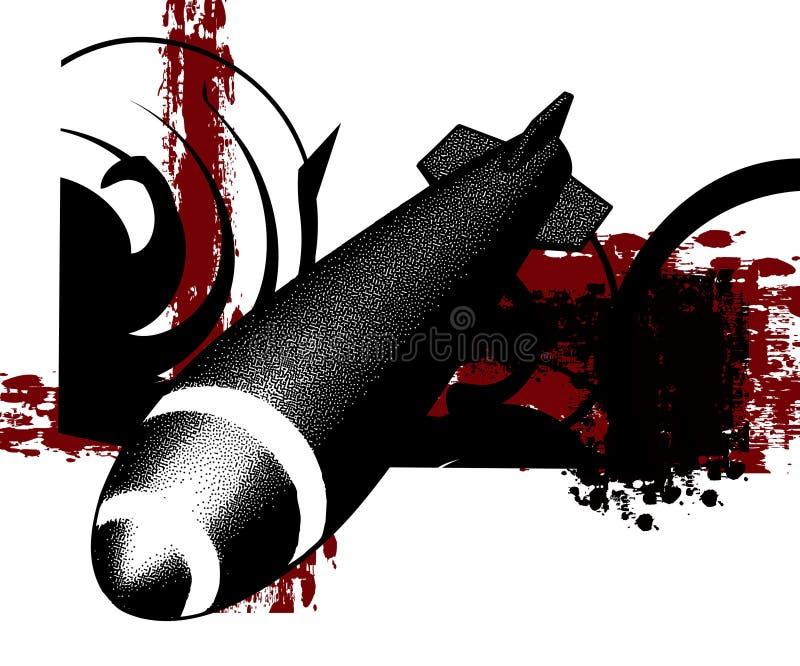 Krieg Raket vektor abbildung