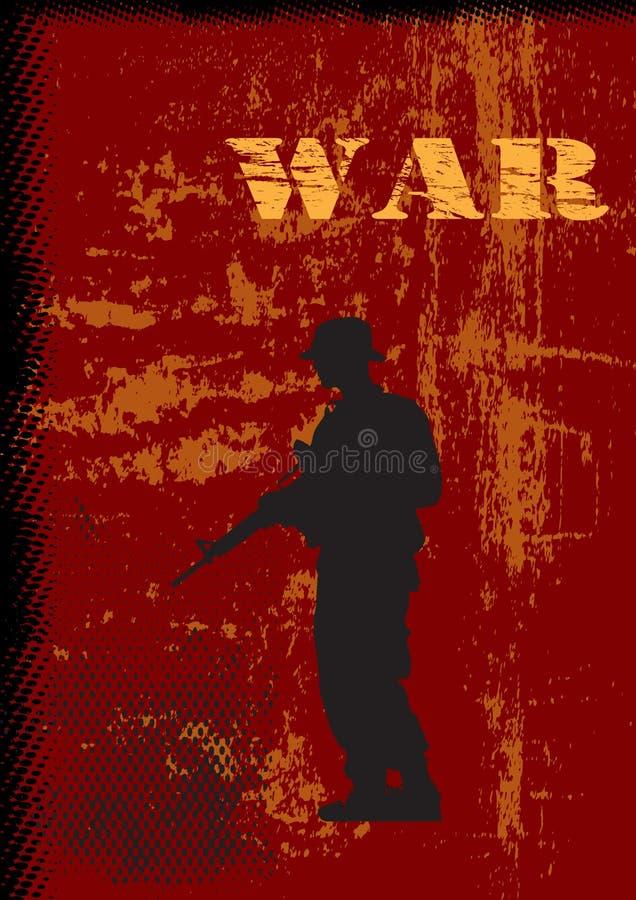 Krieg-Thema-Hintergrund vektor abbildung