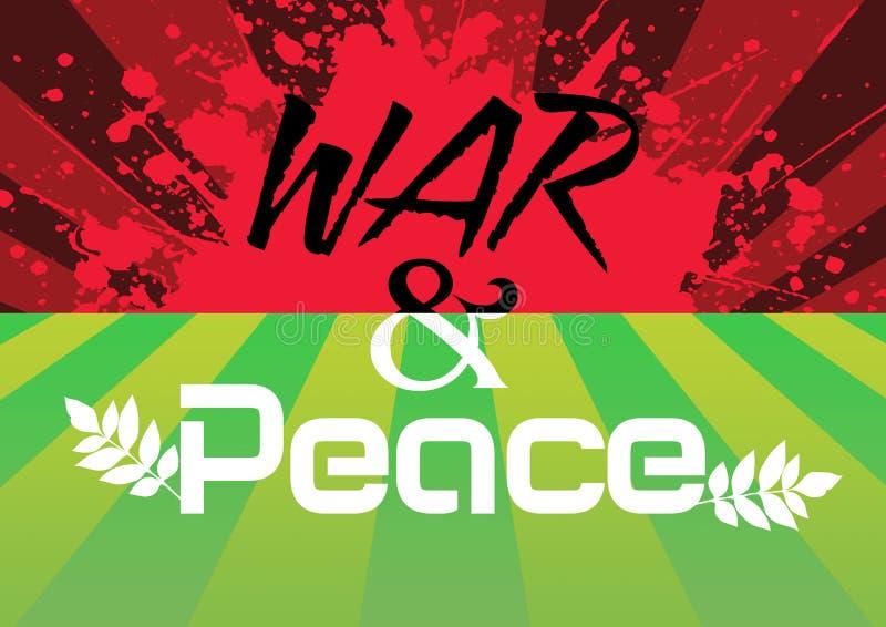 Krieg und Frieden stock abbildung