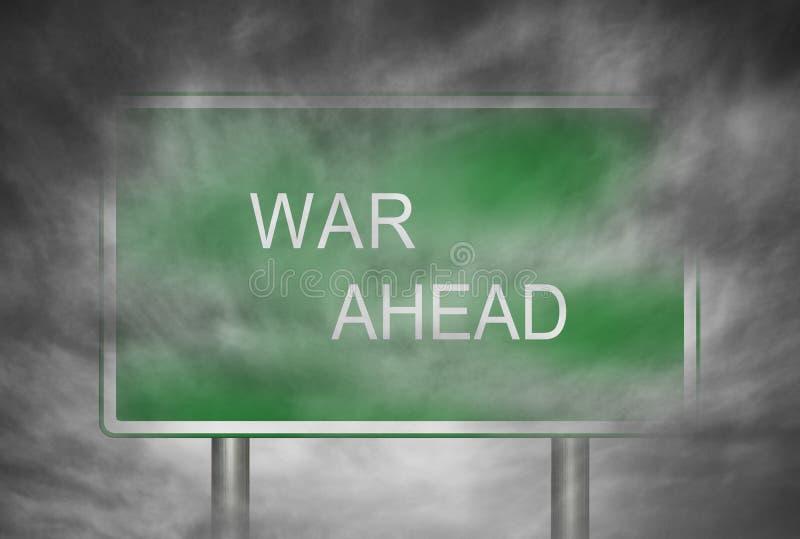 Krieg voran lizenzfreie stockfotos