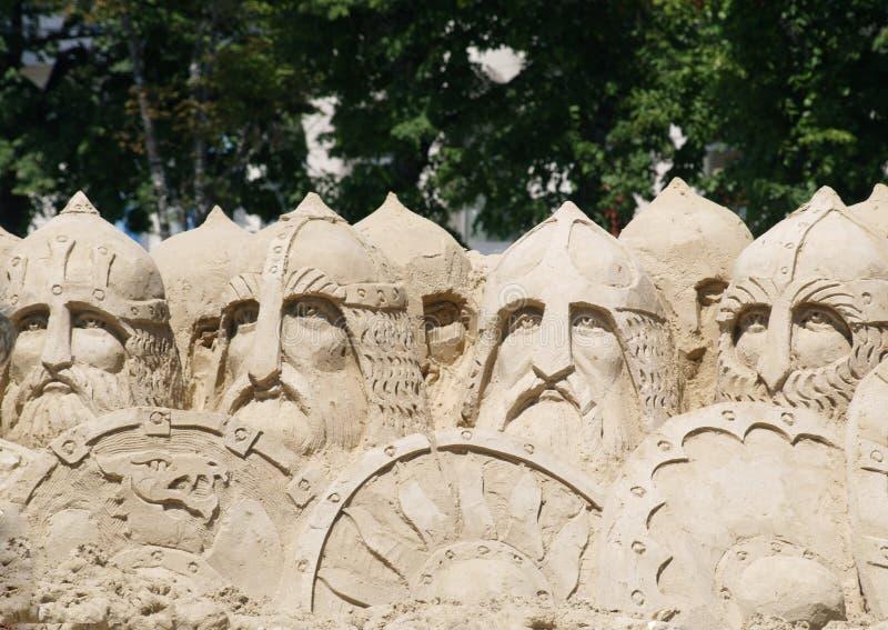 Krieger der Sandskulptur 33 stockbilder