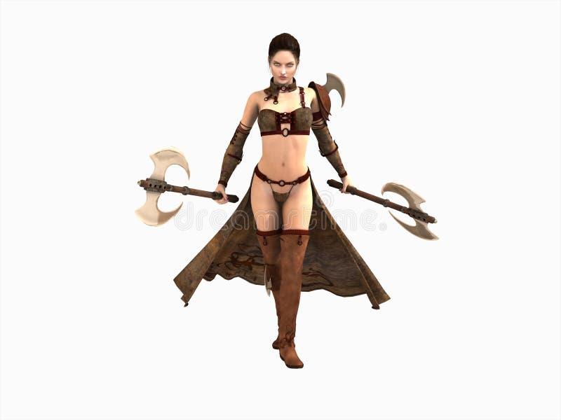 Kriegerfrau stock abbildung