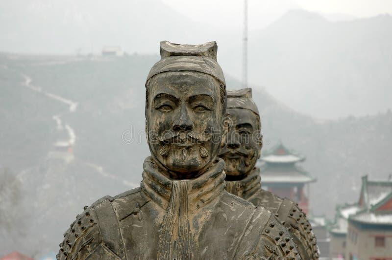 Kriegerstatue stockfotografie