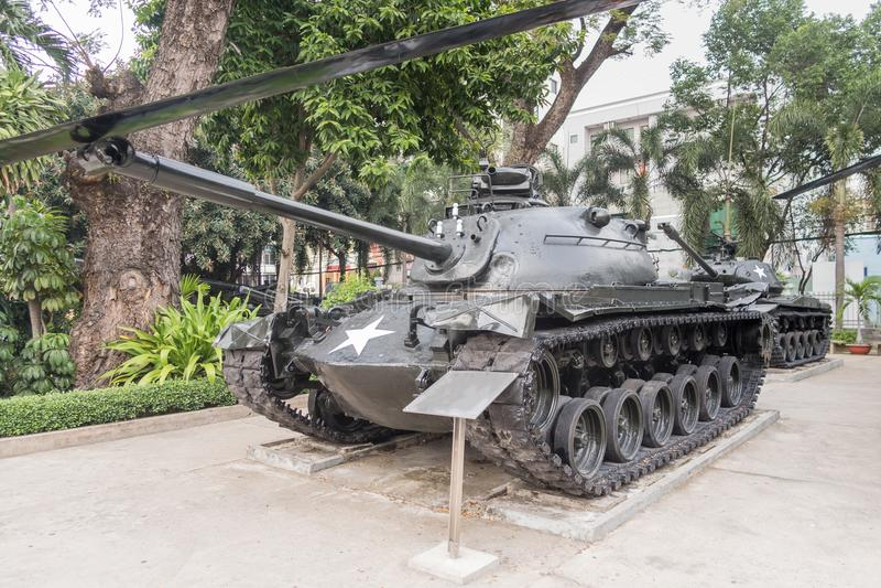 Kriegs-Rest-Museum in Ho Chi Minh City ehemaliges Saigon lizenzfreie stockfotografie