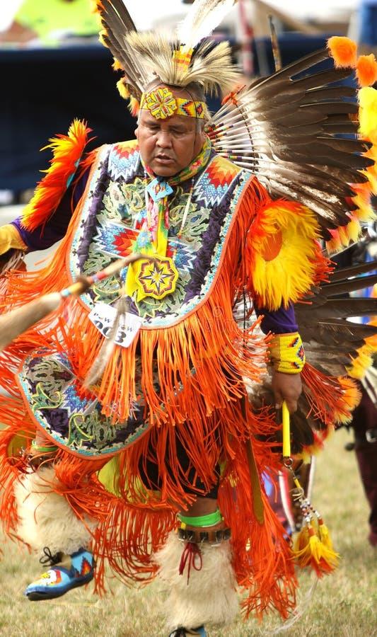 Kriegsgefangenwow Tänzer des amerikanischen Ureinwohners lizenzfreie stockfotografie