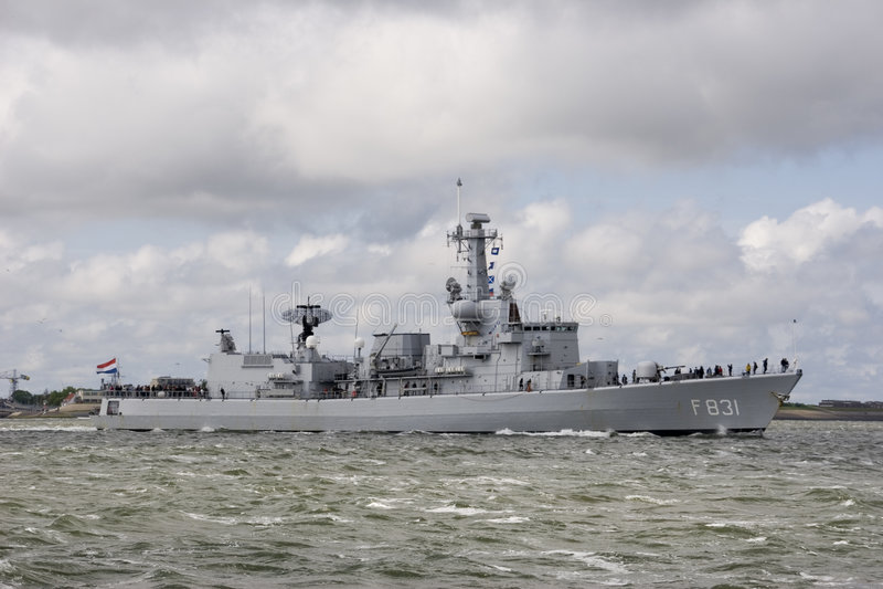 Kriegsschiff stockbild