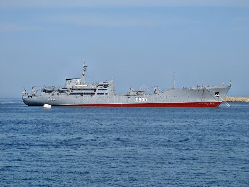 Kriegsschiff Donbas stockbilder