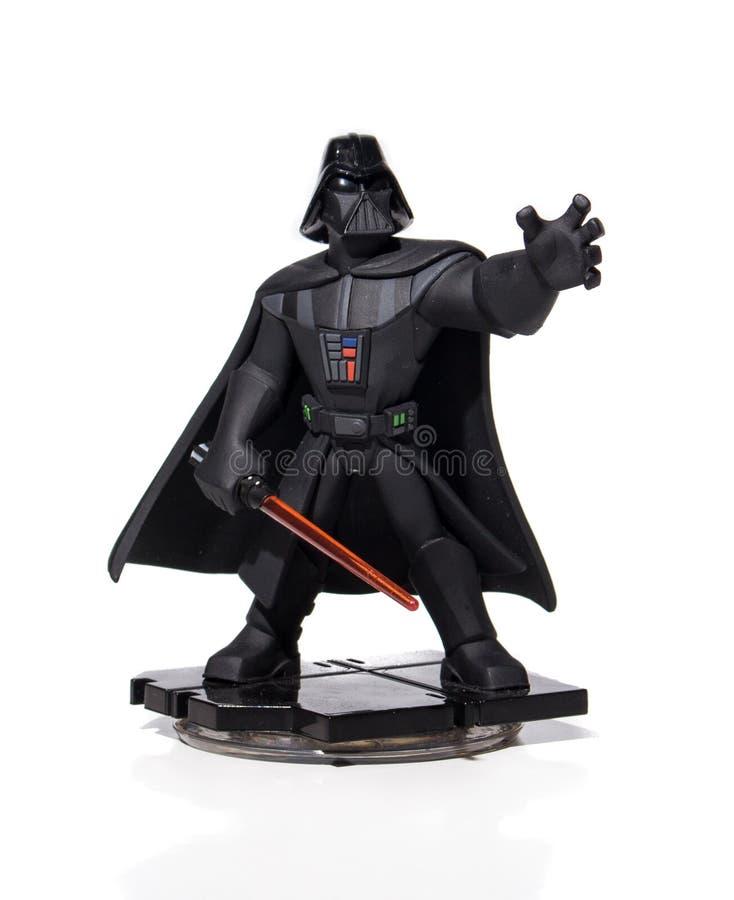 Krig för Darth Vader amiibonintendo stjärna royaltyfri foto