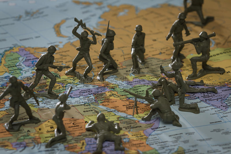 Krig i Mellanösten arkivfoto