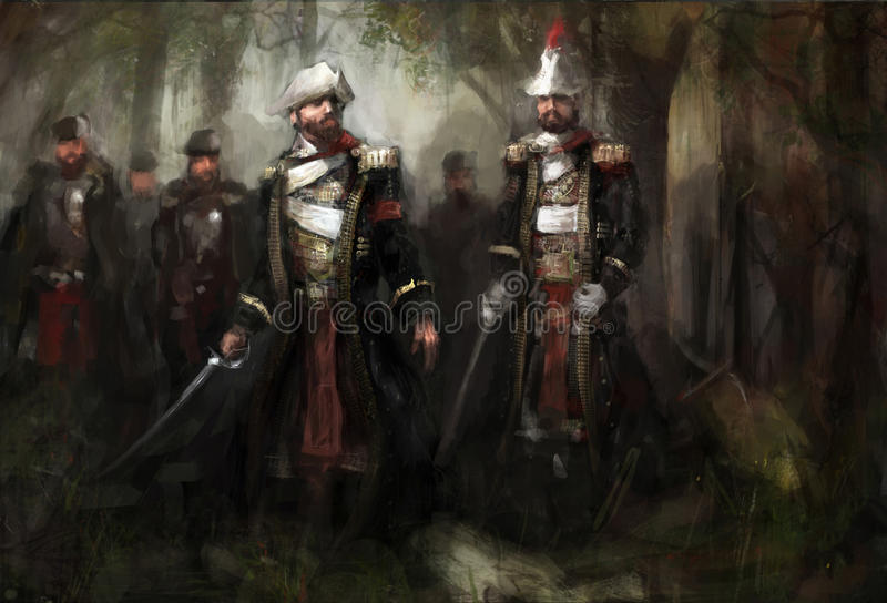 kriga stock illustrationer