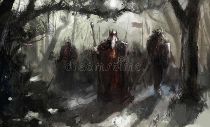 kriga royaltyfri illustrationer