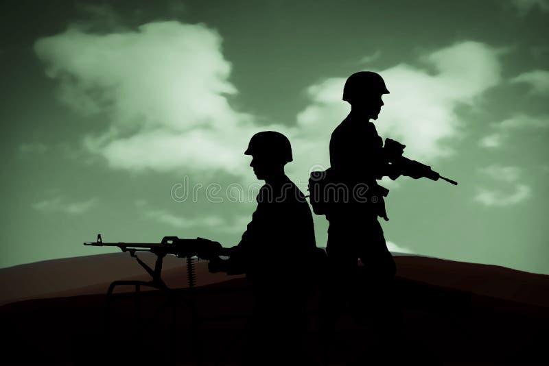 kriga vektor illustrationer