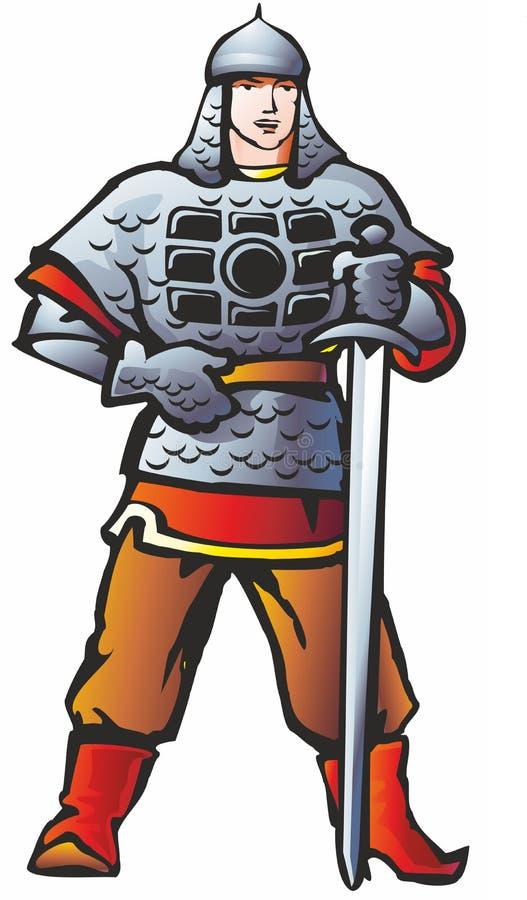 Krigare royaltyfri illustrationer