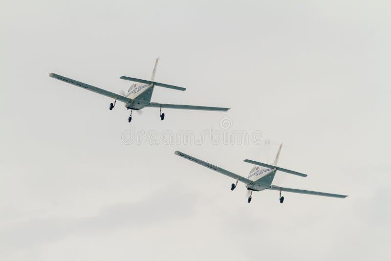 Krigare för flygplanpipblåsare PA-28-161 III royaltyfria foton