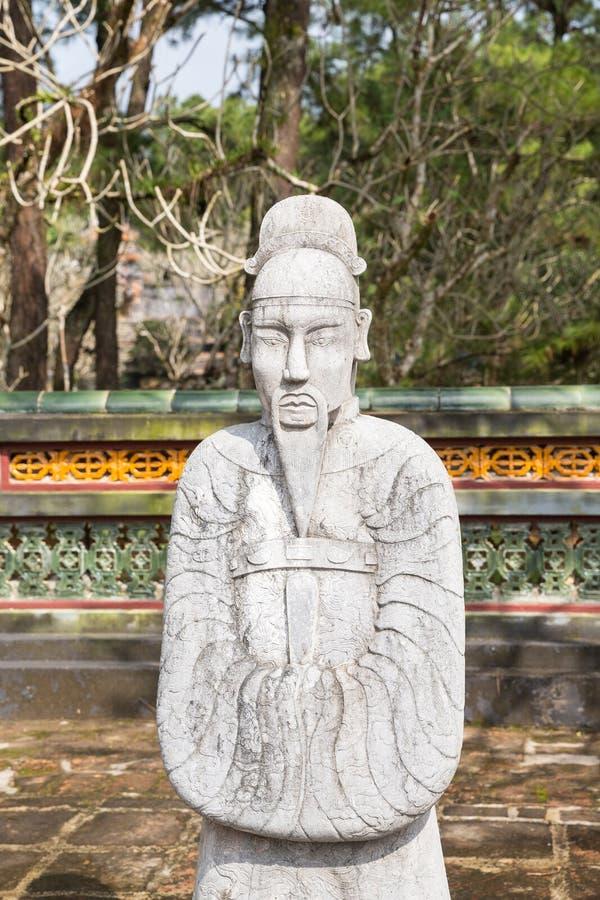 Krigare på gravvalvet av Tu Duc i Hue Vietnam arkivbild