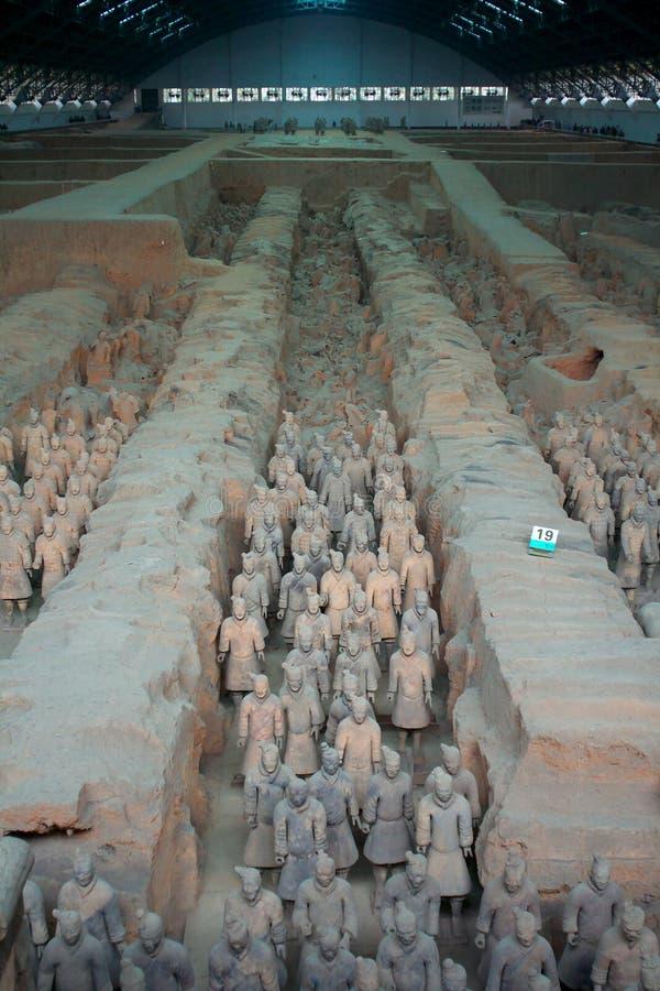 krigare xian för porslinhästterrakotta arkivbilder