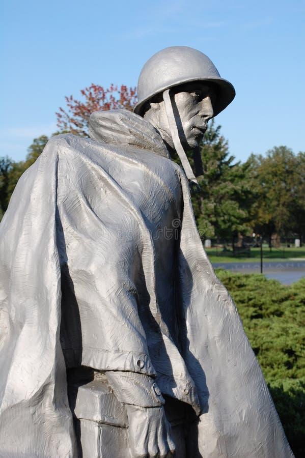kriger den koreanska minnesmärken för dc washington arkivbild