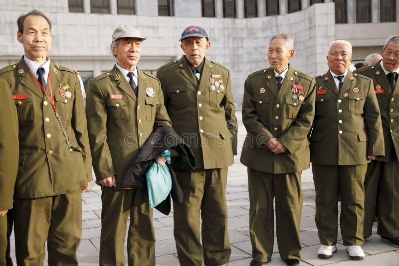 kriger den koreanska veteran för porslinet arkivbild