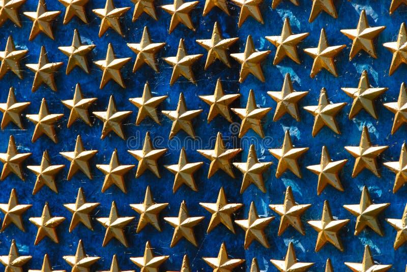 kriger minnes- stjärnor ii världen royaltyfri foto