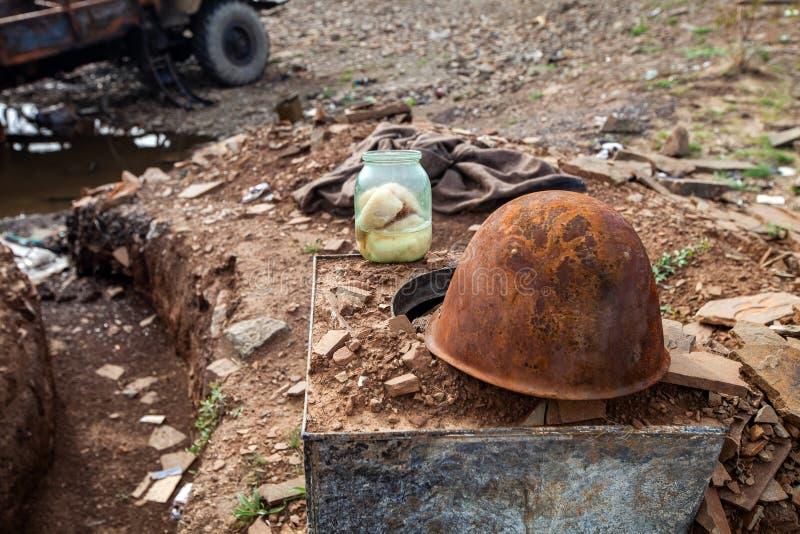 Kriget åtgärdar efterdyning, den Ukraina och Donbass konflikten arkivbilder