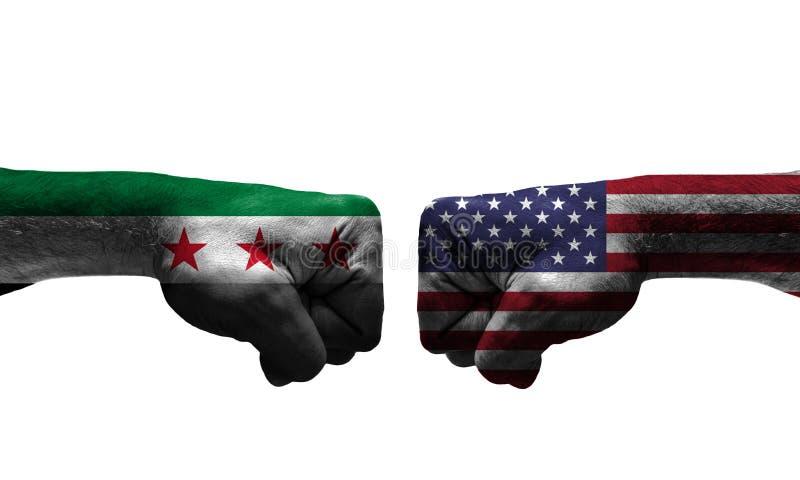 Kriget mellan 2 länder royaltyfria bilder