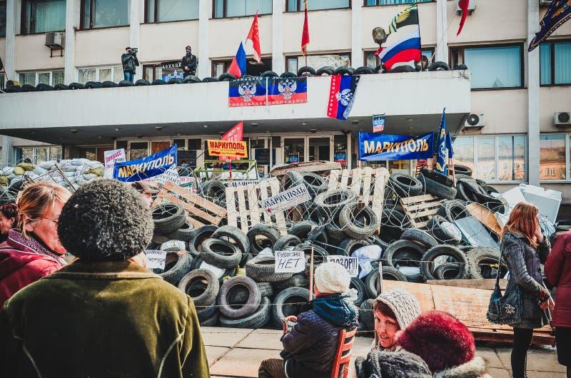 Kriget Ukraina Mariupol 9 kan arkivbilder