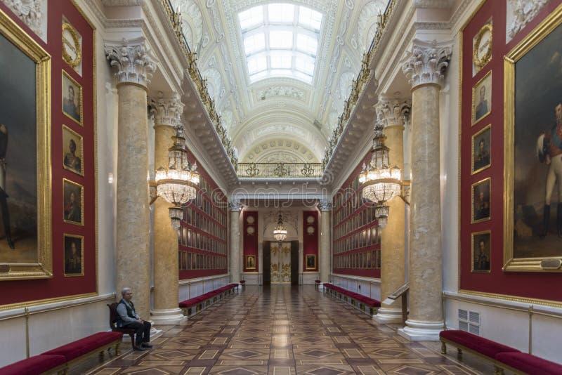 Kriggalleri av 1812 tillståndseremitboningmuseet St Petersburg Ryssland royaltyfri fotografi