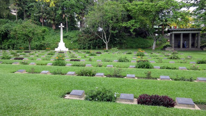 Krigkyrkogård Guwahati arkivfoto