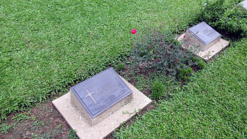 Krigkyrkogård Guwahati royaltyfria foton
