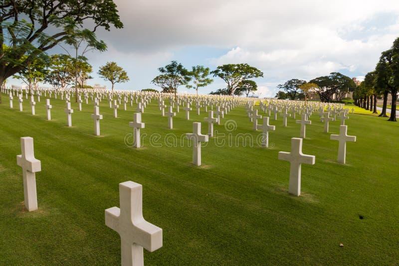 Krigmilitärkyrkogård arkivbilder