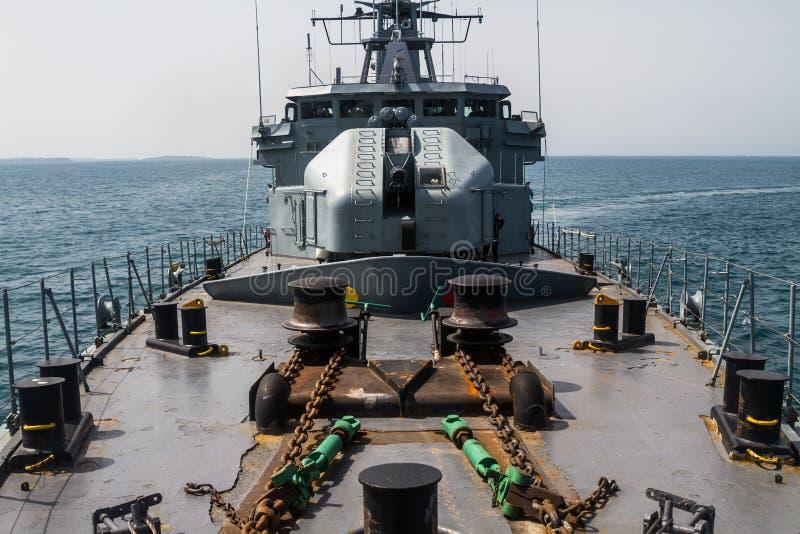 KRIGSSKEPP - Skepppatrullen i havet - Bild royaltyfri bild