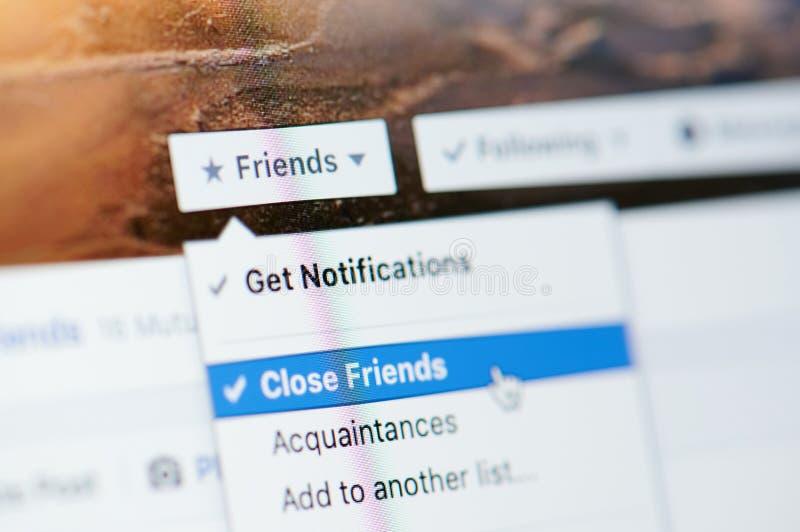 Krijg Bericht voor dichte vriendenlijst stock afbeelding