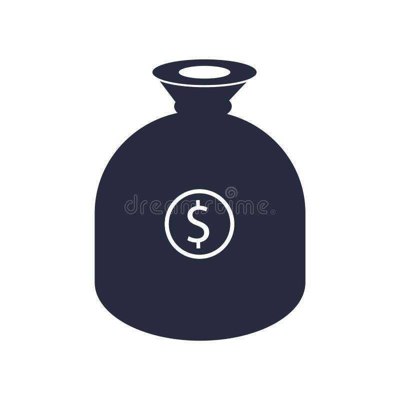 Krijg het vectordieteken van het geldpictogram en het symbool op witte achtergrond wordt geïsoleerd, krijgt het concept van het g stock illustratie
