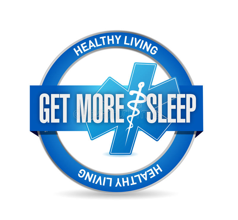 krijg meer de verbindingsillustratie van het slaap gezonde leven royalty-vrije stock afbeeldingen