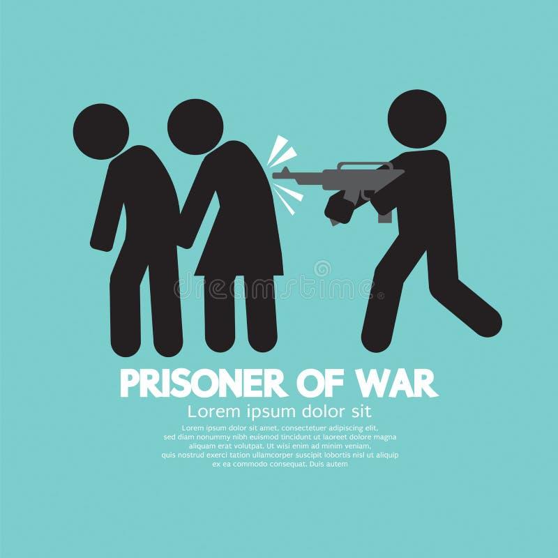 Krijgsgevangenesymbool vector illustratie