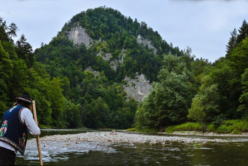 Krijtachtig Nationaal het Parkpanorama van bergenpieniny royalty-vrije stock afbeelding