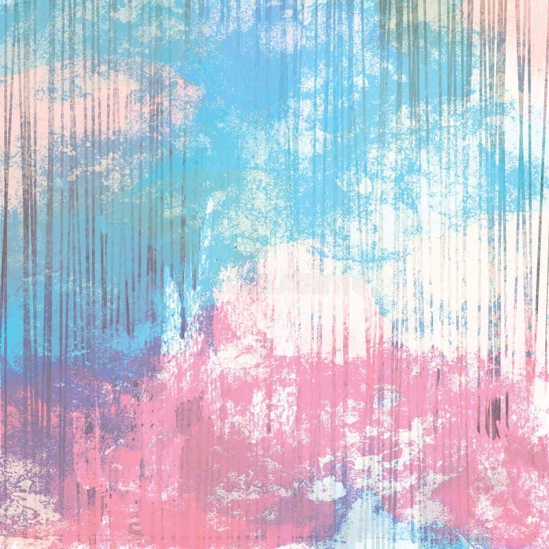 Krijtachtig uit kleuren gestreepte achtergrond royalty-vrije illustratie