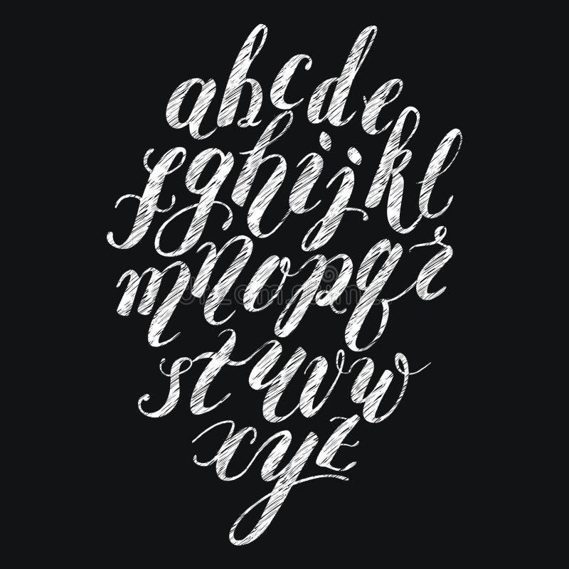 Krijtborstel het van letters voorzien alfabet royalty-vrije stock foto