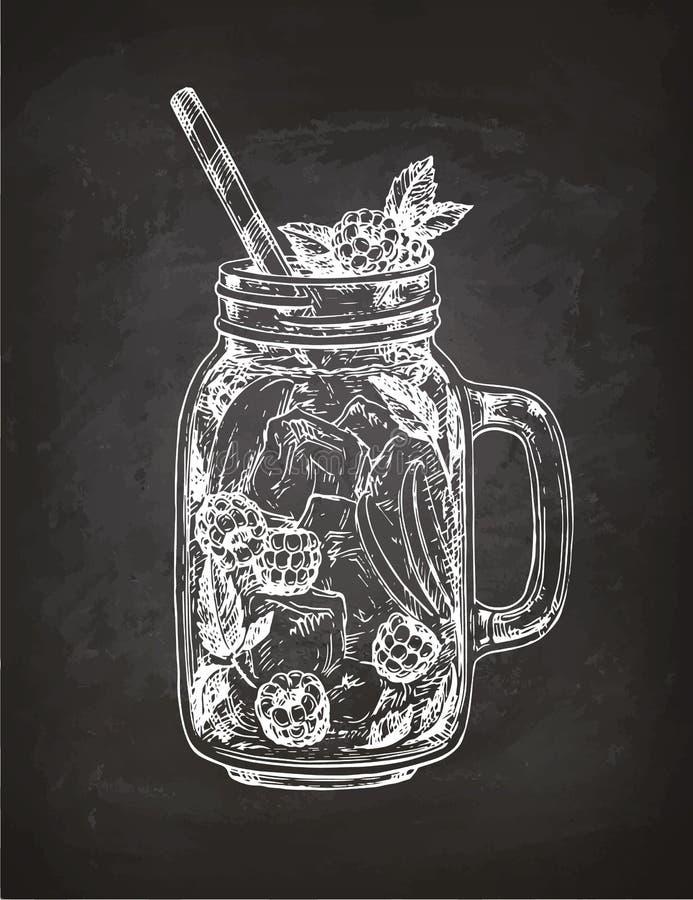 Krijtschets van limonade vector illustratie