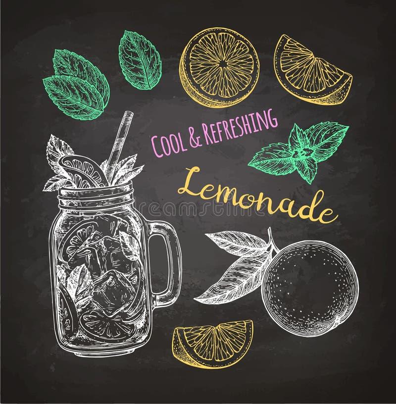 Krijtschets van limonade royalty-vrije illustratie