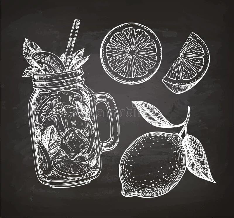 Krijtschets van sinaasappel vector illustratie