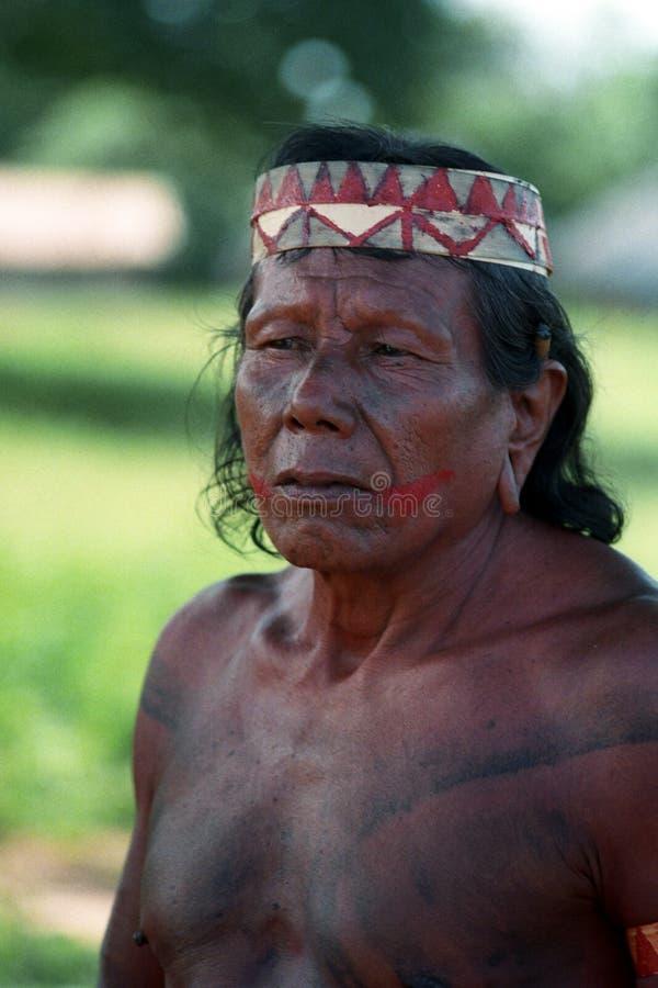 Krikati - Inheemse Indiërs van Brazilië royalty-vrije stock fotografie