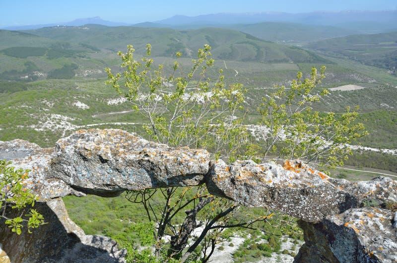 Krim, der Höhlenstadt Mangup-Kohl lizenzfreie stockbilder