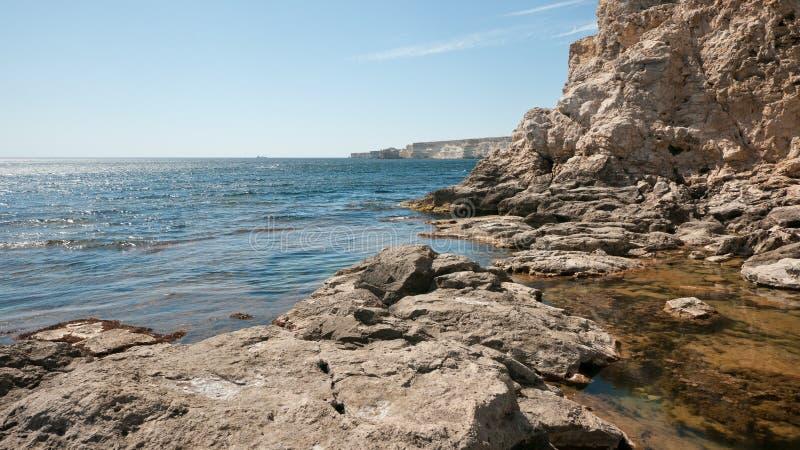 Krim klippen stock fotografie