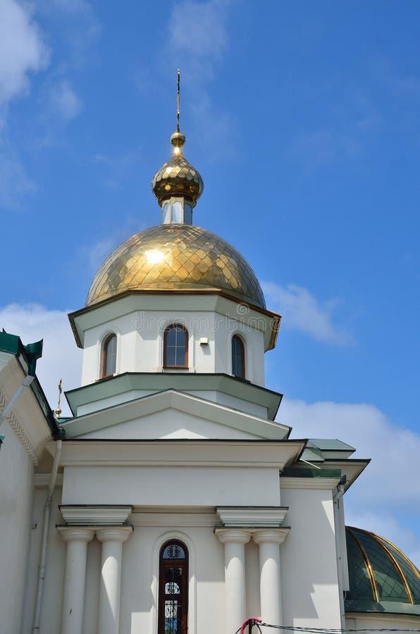 Krim Sevastopol Kyrkan av St Theodosius av Chernigov på gatan Portovaya, 19 A fotografering för bildbyråer