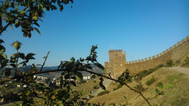 Krim, Sudak, Genoese Festung stockfoto