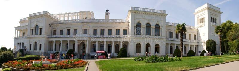 Krim Yalta - September 18, 2009 Livadia slott i Krimet arkivfoto