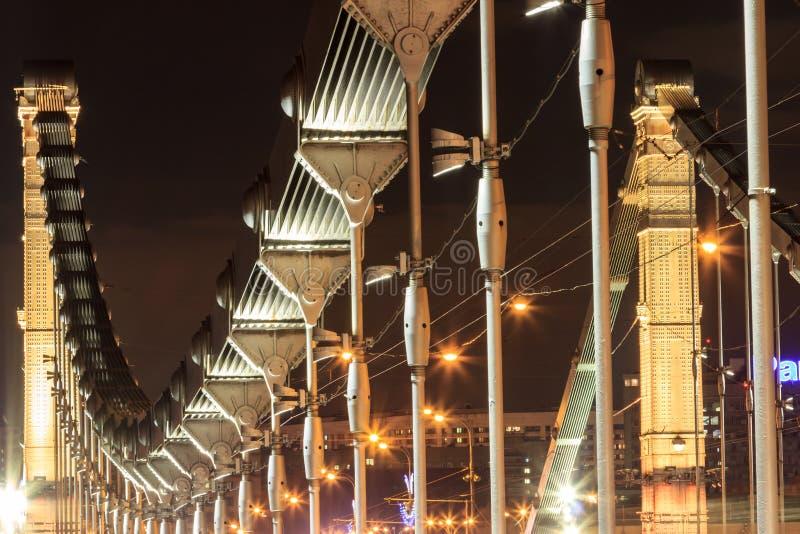 Krimbrücke in Moskau lizenzfreie stockbilder