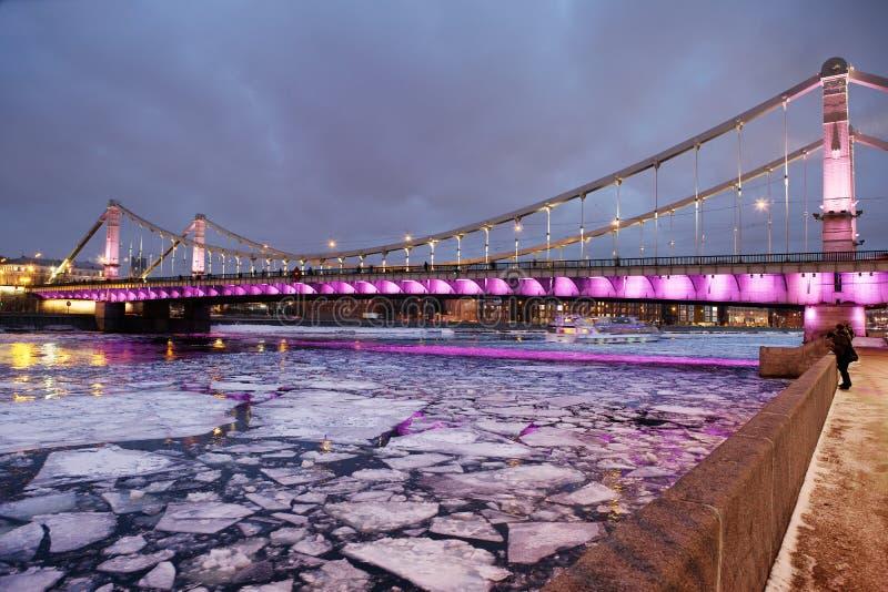 Krimbrücke in Moskau lizenzfreies stockbild