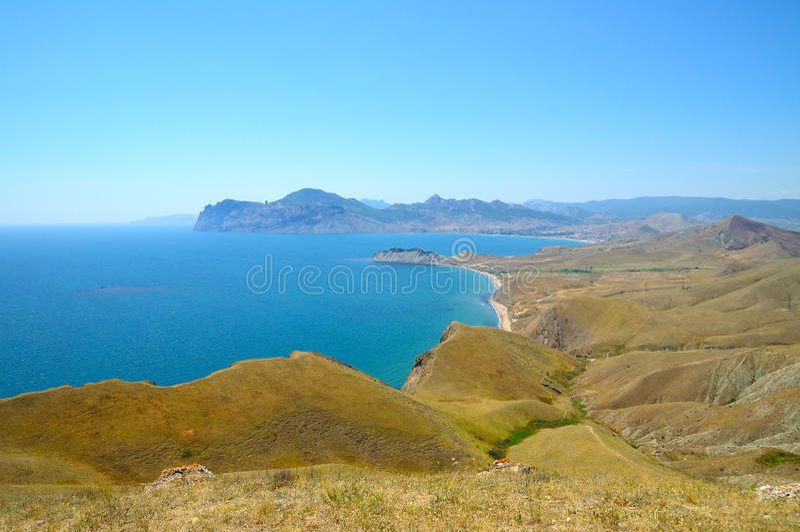 Download Krimgebirgslandschaft stockfoto. Bild von ozean, meer - 27730202